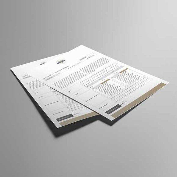 A4 Job Analysis Worksheet Template by Keboto on @creativemarket - job analysis