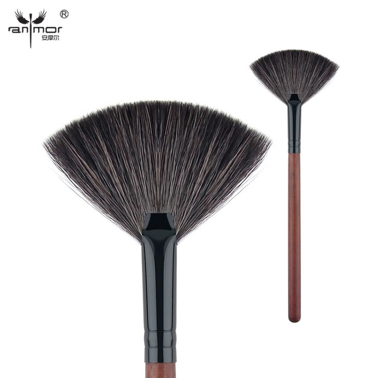 Anmor Goat Hair Fan Brush High Quality Make Up Brushes for Daily or Professional Makeup