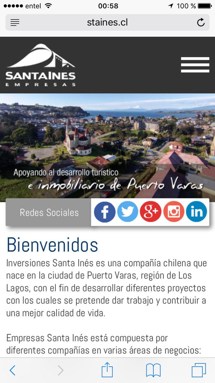 RESPALDO Inmobiliaria Sta.Ines 25 años apoyando el desarrollo turístico e inmobiliario de Puerto Varas.