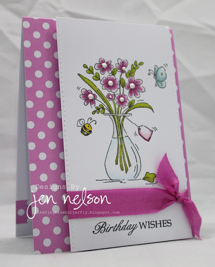 Love how the ribbon is tied around the panel instead of the whole card.