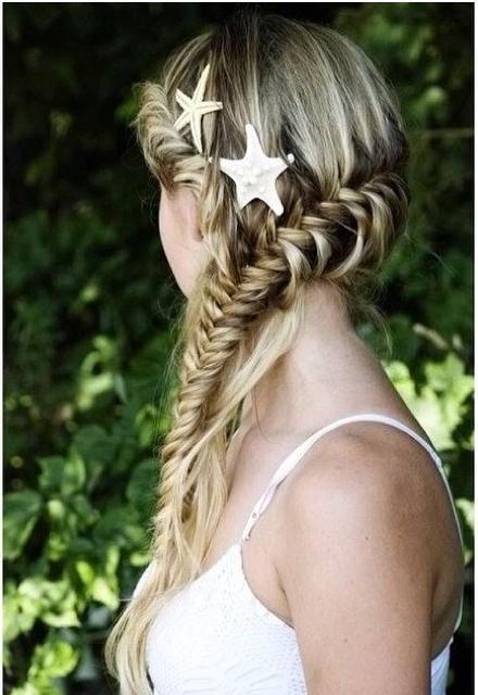 starfish hair clips