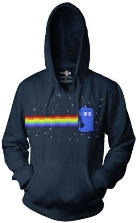 Doctor Who Nyan Tardis Hoodie: Clothing