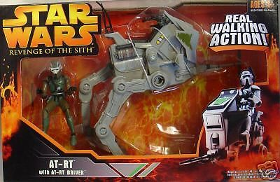 STAR WARS ROTS AT-RT WITH  AT-RT DRIVER-REAL WALKING ACTION-NEW!! A UNIQUE FIND!