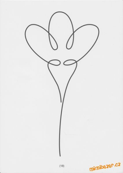 květina - jedním tahem: