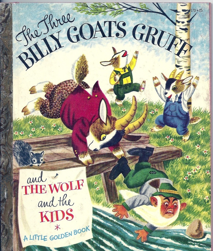 1953 Little Golden Book ''THE THREE BILLY GOATS GRUFF'', ill. Richard Scarry. | eBay