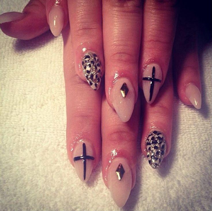 Natural Leopard Cross nail art - 73 Best Nails Images On Pinterest Crosses, Cross Nails And Cross