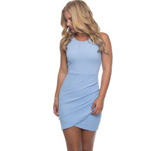 Dreaming Bodycon Dress In Powder Blue