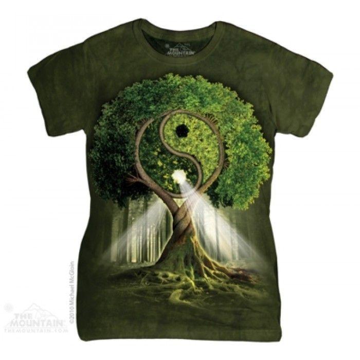 Tricouri dama 3D – Tricou Yin Yang Tree Dama