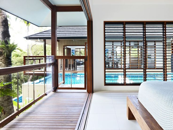 Hardwood, Vertical Cable Pool Gate Trinity Beach House, FNQ - Grand Designs 2012