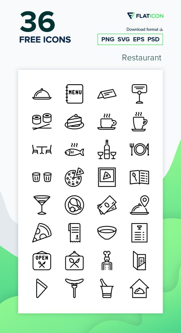 36 Free Vector Icons Of Restaurant Designed By Pixel Perfect Vector Icons Free Icons Png Free Icon Packs