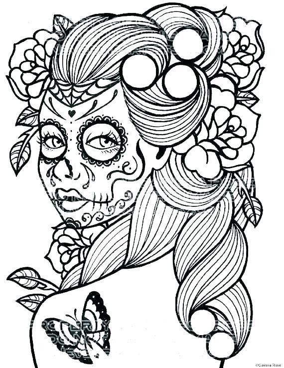 Coloring Malvorlagen Zum Ausdrucken Malvorlagen Fur Madchen Sugar Skull Madchen