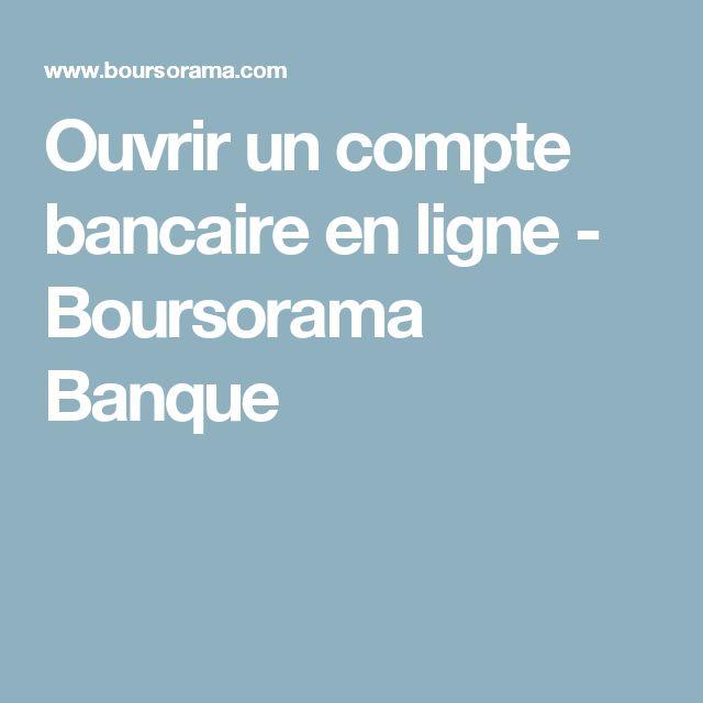 Ouvrir un compte bancaire en ligne - Boursorama Banque