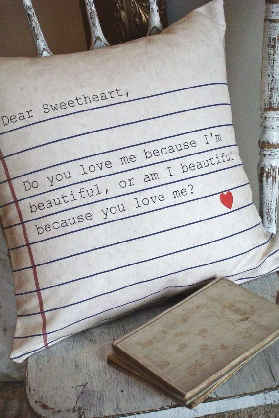 Cotton and Burlap Pillow Cover The Dear Sweetheart