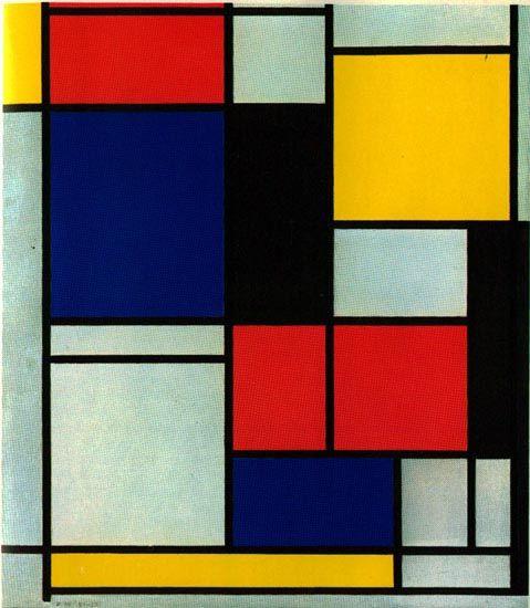 Artes do A'Uwe: Obras de Piet Mondrian