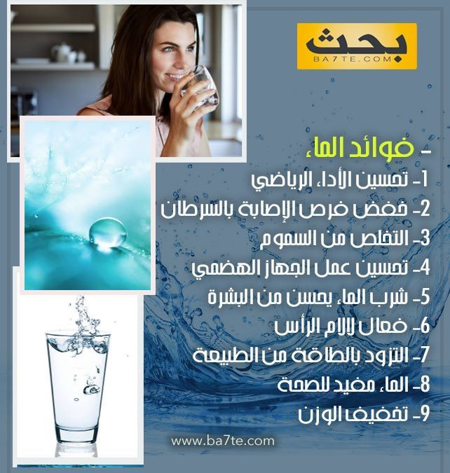 تعرف على فوائد شرب الماء Book Qoutes Qoutes Books