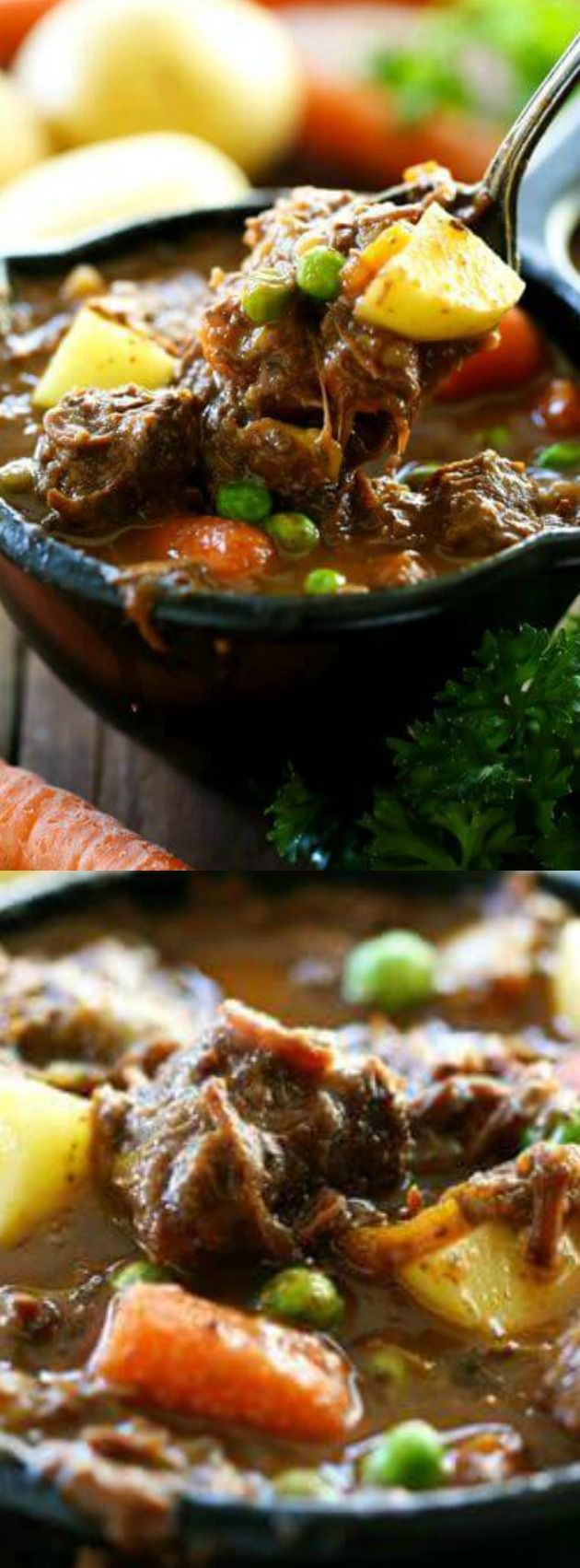 This Slow Cooker Beef Stew from Chef in Training is a hearty and delicious beef stew that is loaded with yummy vegetables and incredible flavor! It makes the perfect meal for busy days that will fill everyone up!