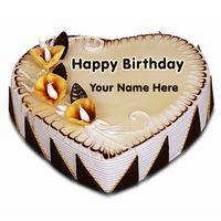 Write Name on Fig and Honey Birthday Cake Online