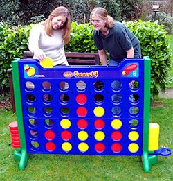 Giant Connect 4 - AWESOME! But does yellow realize she is about to lose?