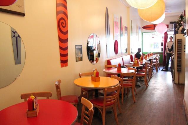 Island Burgers and Shakes. Known for Duke's Churasco Sandwich  766 9th Ave  New York, NY 10019