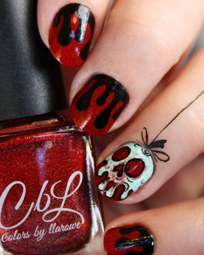 25 best nail art images on pinterest deco hair beauty and 32 delightfully spooky halloween nail art designs prinsesfo Image collections
