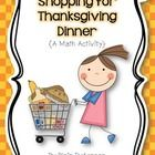 "FREE ""Shopping for Thanksgiving Dinner"" math activity"
