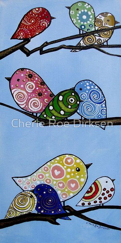 Sweet Tweets Greeting Cards for $2.17 via #redbubble #cherieroedirksen