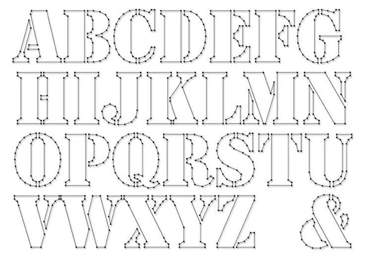 Buchstaben Vorlage für Fadebilder