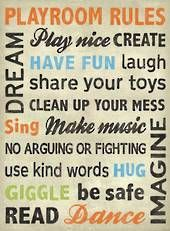 Playroom Rules Canvas