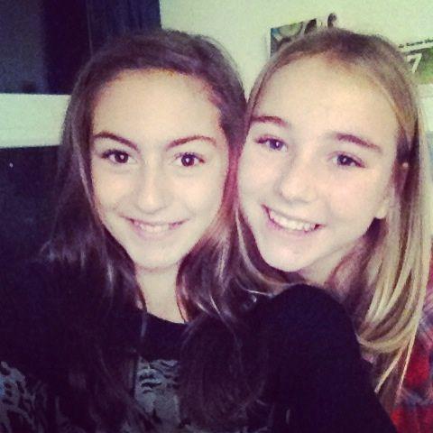 Avec la cousine Leïa