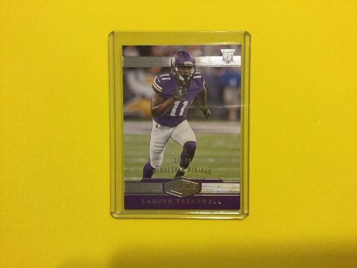LAQUON TREADWELL 2016 Plates & Patches 39/79 Rookie #MinnesotaVikings