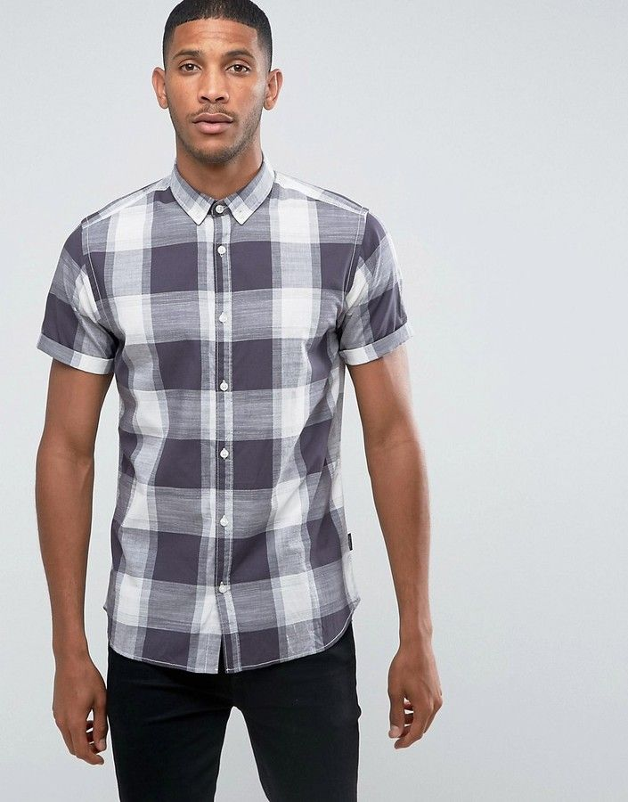 Jack and Jones Originals Short Sleeve Check Shirt