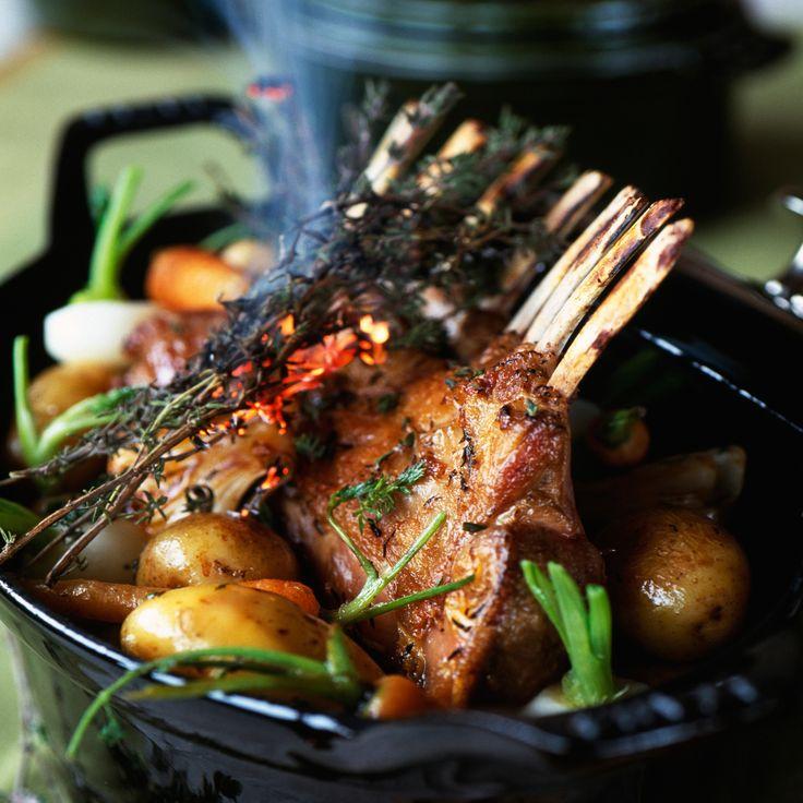 Découvrez la recette Carré d'agneau facile aux petits légumes sur cuisineactuelle.fr.