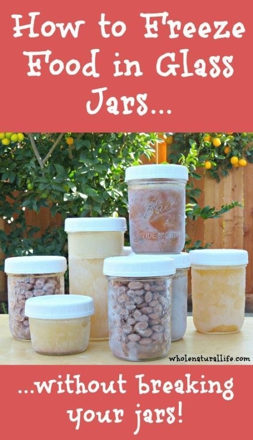 How to freeze food in glass jars...without breaking your jars! Since I started following these rules I've had ZERO issues with glass jars breaking in my freezer.