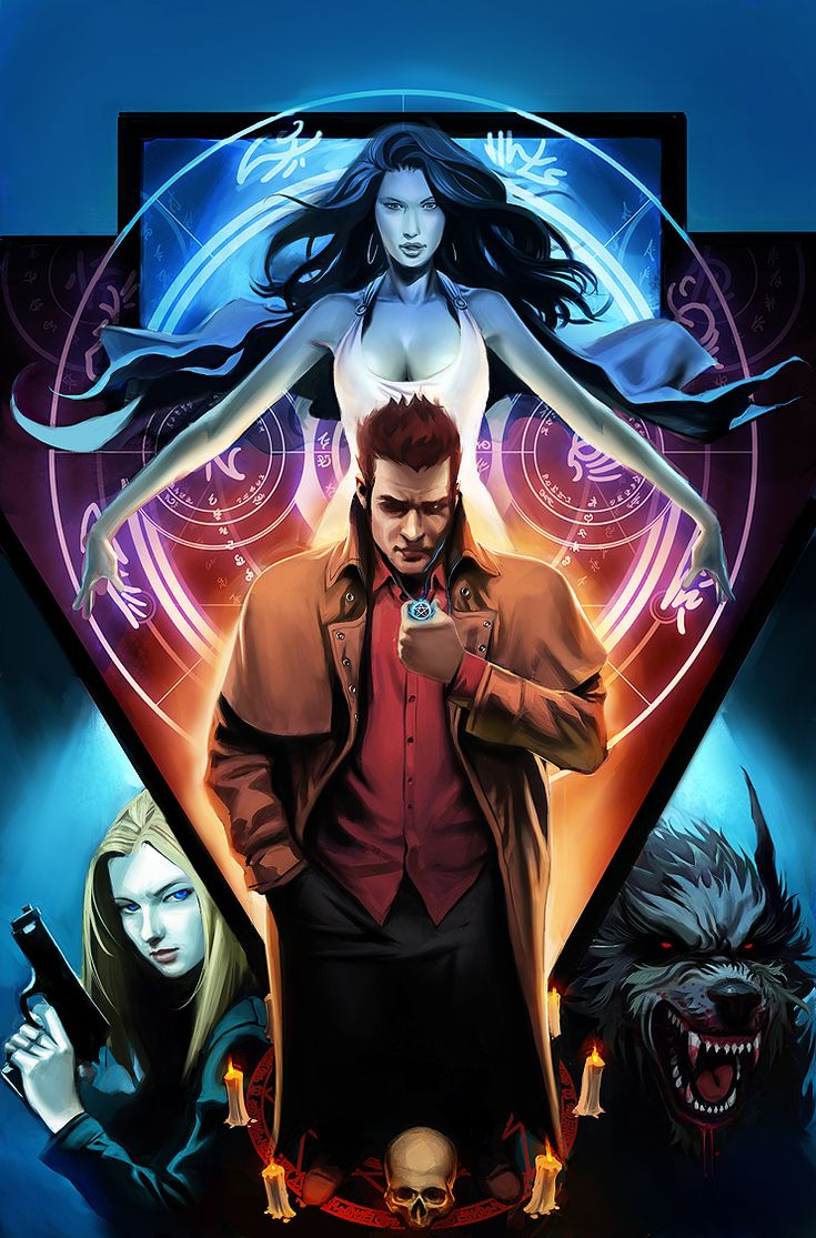 Cover For The Third Issue Of The Fool Moonic Book Adaptation From The Dresden  Files