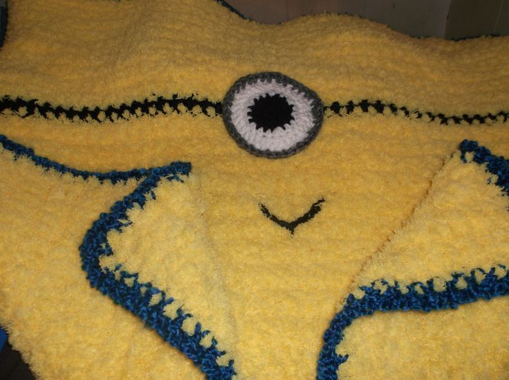 Crochet Pattern For Minion Blanket : Bernat Pipsqueak Minion Baby Blanket Crochet Ive Done ...