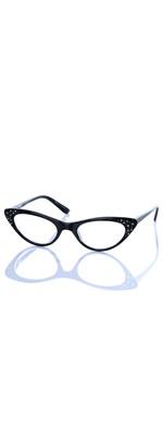 Black Prom Queen Cat Eye Readers