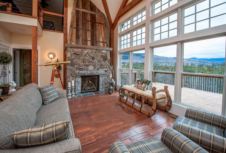 Cabot barn home posts post and beam and barn homes for Open concept post and beam house plans