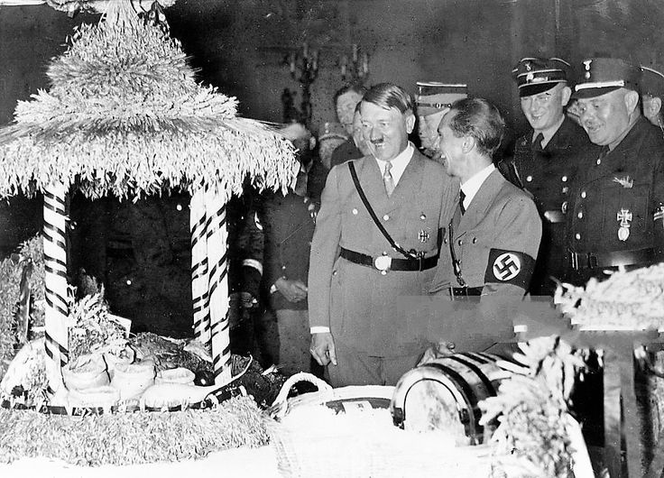 "Hitler and Goebbels in November, 1933. It's unusual to see Hitler laughing in a photo with Goebbels, he's usually in the public ""stern"" Fuehrer role."