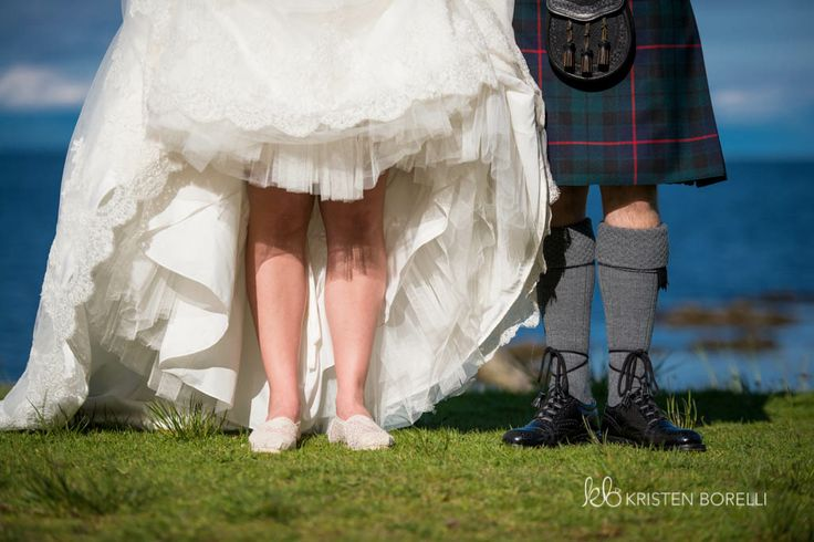 Vancouver Island Wedding Photography | Kristen Borelli Photography | Scottish Wedding | Kilt and wedding dress