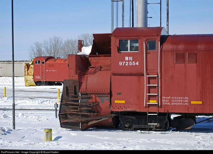 Railpictures Net Photo Bn 972554 Bnsf Railway Rotary Snow Plow At