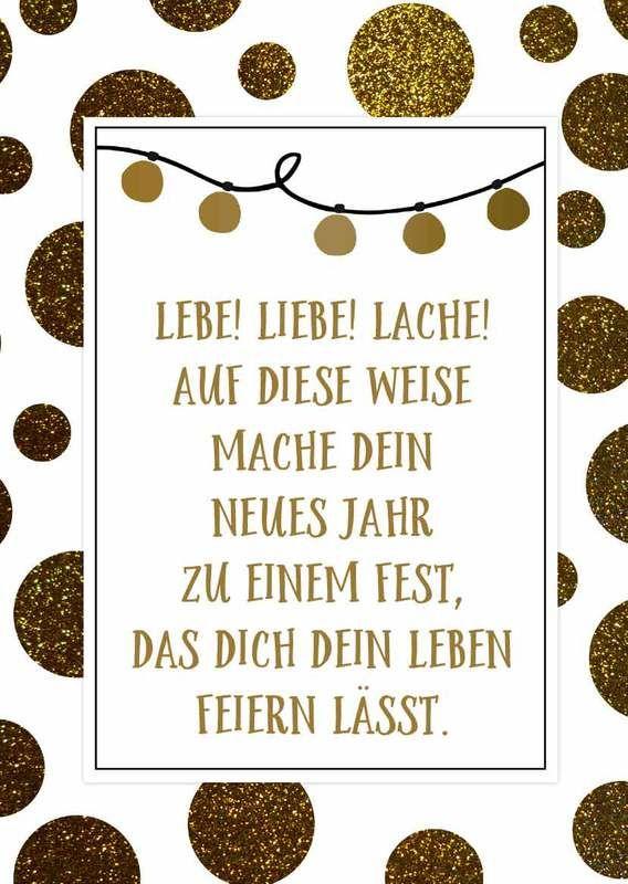Grusskarte Silvester Neujahr Jahreswechsel