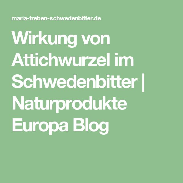 Wirkung von Attichwurzel im Schwedenbitter | Naturprodukte Europa Blog