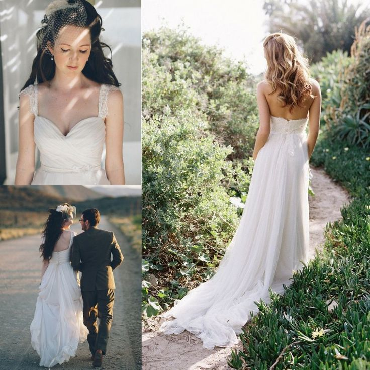Cheap gowns for kids sale, Buy Quality dress size directly from China gown wedding Suppliers: Flowing Beach Wedding Dress Women Summer Ivory Chiffon 2015 Romantic Cheap Long Wedding Dresses Bridal Gowns Vestido
