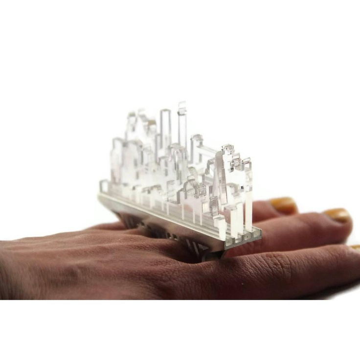 """Cityscapes Knuckle Duster Ring 