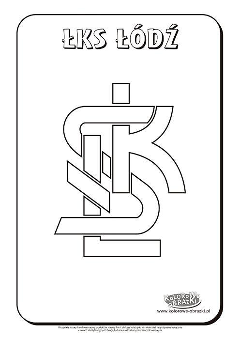 ŁKS Łódź logo kolorowanka. | Kolorowanki dla dzieci