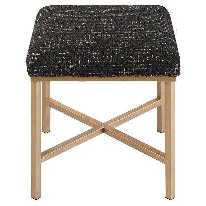 This ottoman is perfect to cover with the Ikea sheepskin rug, unscrew top and staple the faux fur over the top and you have a custom ottoman for under $90. I just might do this myself,loving this!Nate Berkus™ Plaid Upholstered Ottoman: