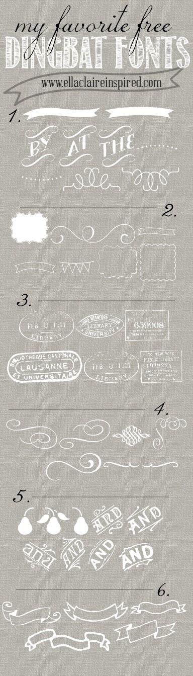 {Ella Claire}: My Favorite Free Dingbat Fonts