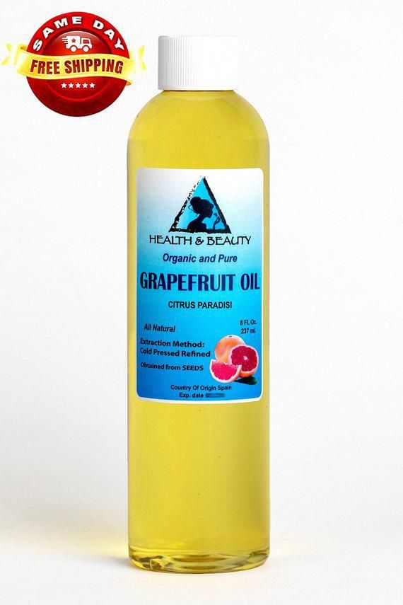 8 oz GRAPEFRUIT SEED OIL Refined Organic Carrier Cold Pressed Natural Fresh 100% Pure #ProfessionalCelluliteRemoval