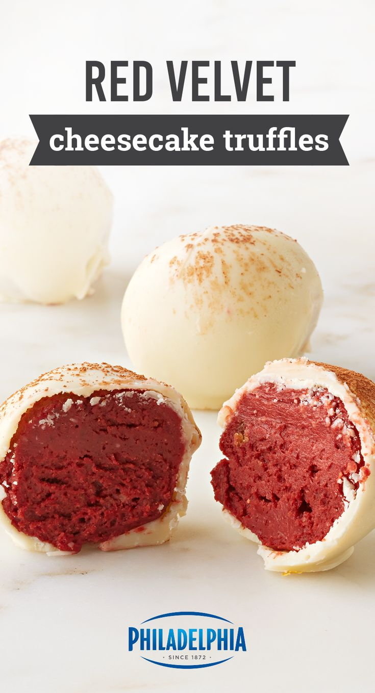 Red Velvet Cheesecake Truffles – Give your family the best sweet surprise ever with these cheesecake bites. Coated in white chocolate, this dessert recipe is truly tasty.