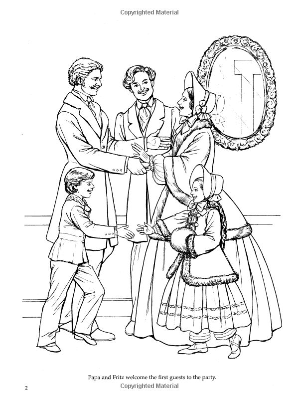 Nutcracker Ballet Coloring Book Dover Holiday Coloring Coloring Pages Nutcracker